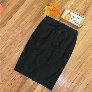 🔥SEXY Vegan Leather Pencil Skirt with Back Zip